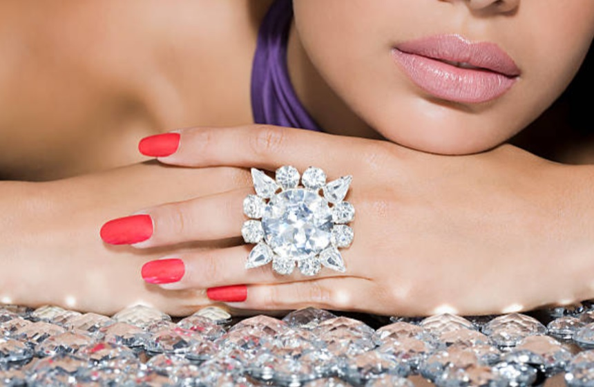 cz diamond ring online